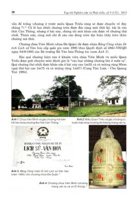 Về niên hiệu Càn Thống của vua Mạc hiện còn trên chuông chùa Viên Minh ở Cao Bằng/About Càn Thống reign of the Mạc King on the existing bell of Viên Minh Pagoda in Cao Bằng Province